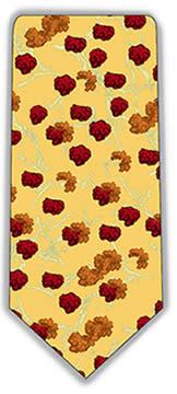 Mad Cow (Prions) Neck Tie (Yellow & Red)