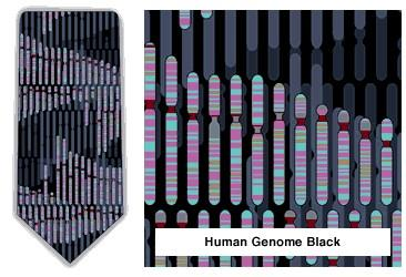 Human Genome Neck Tie (Black & Teal)