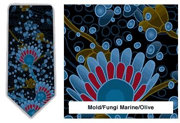 Mold/Fungi Neck Tie (Marine & Olive)