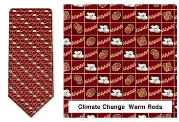Climate Change Neck Tie (Warm Reds)