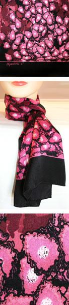 Hepatitis C Scarf (Berry/Black)