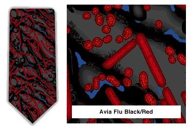 Avian Flu NeckTie (Red & Black)