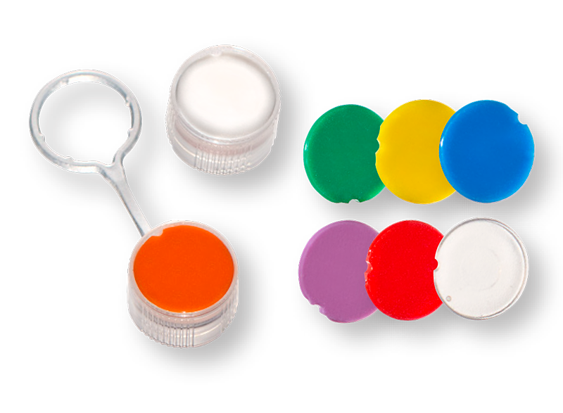 Clear Insertable Teathered Caps and Cap Inserts